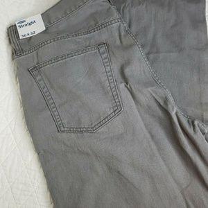 OLD NAVY STRAIGHT Pants Mens 36 X 32 Grey